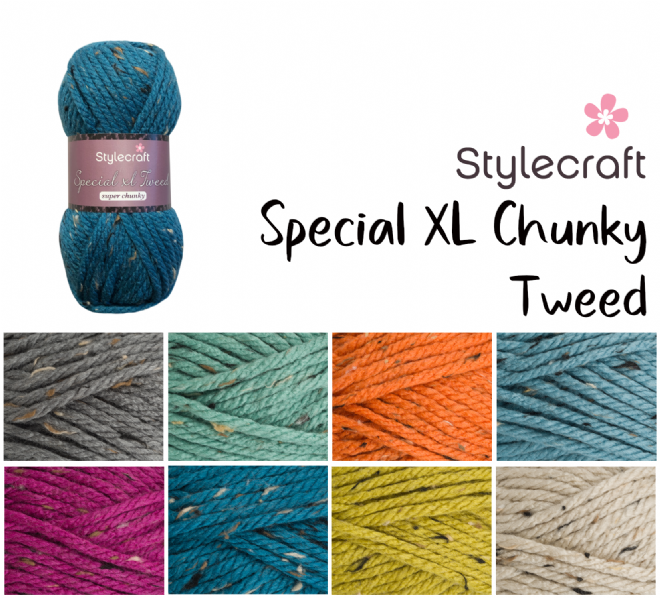 Stylecraft Special XL Tweed Chunky 100g
